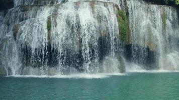 Erawan Waterfalls in a Tropical Rainforest