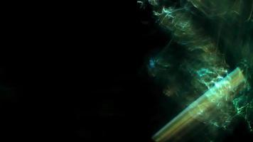 piscando luzes brilhantes verdes abstratas