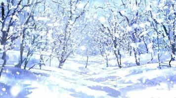 Moving Through a Forest Winter Wonderland