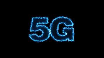 símbolo de red 5g futurista video