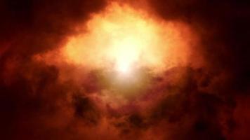 misteriosas nuvens douradas em loop