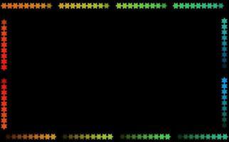 cornice arcobaleno esagonale