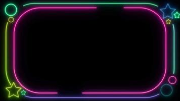 Neon Frame Party Background