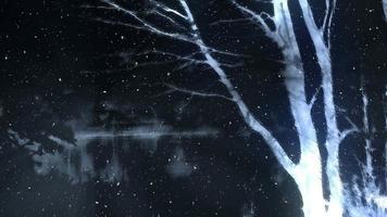 leuchtender abstrakter Winterbaumhintergrund
