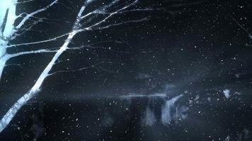 mystischer dunkler Fantasiewinterhintergrund