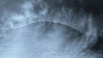 Mountain And Snow Loop Background