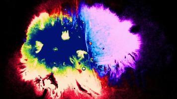 manchas de tinta neon coloridas video