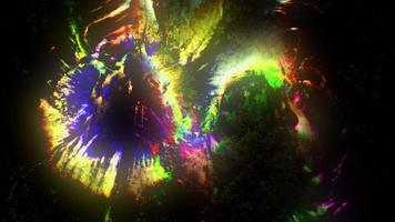 colorida mezcla de tinta grungy