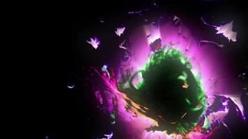 explosión de tinta colorida
