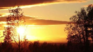 paisaje de la naturaleza al atardecer video