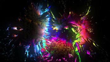peinture grunge colorée rougeoyante video