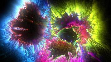 símbolos de tinta de colores brillantes