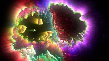 tinta neon colorida brilhante video