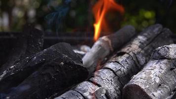 kolenvuur en as voor barbecue