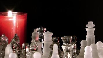 juego de ajedrez y las velas