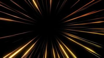 Abstract Light Speed Golden Lines Background.