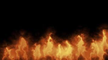 fogo queimando em fundo escuro video
