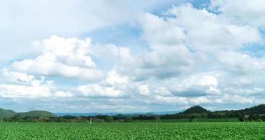 Wolken über einem Feld video