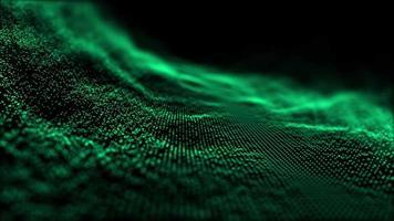 Fondo de onda de partículas verde claro abstracto