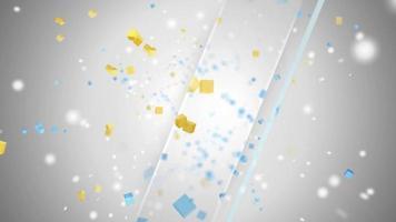 fundo de chuva de cubos coloridos video