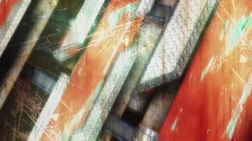 Fondo abstracto de barras de hierro a rayas