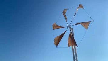 Windmill with beautiful blue sky background video