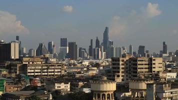 paisagem urbana de edifícios de Bangkok video