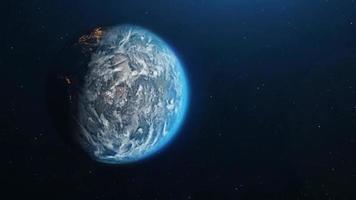 afastando-se do lado escuro do planeta Terra