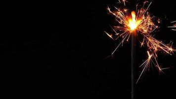 varinha ardente de fogo cintilante video