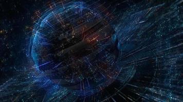 una representación digital sobre la conectividad de la tierra futurista video