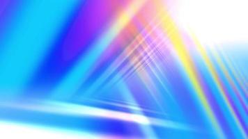 lindas cores do arco-íris em um brilho triangular
