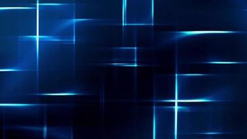 Beautiful blue square shape lights in black background
