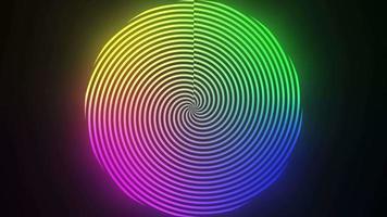 bucle de fondo de colores abstractos