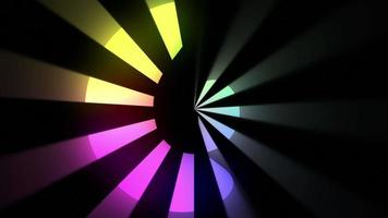 Abstract Colorful Retro Design Loop