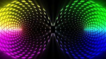 leuchtende bunte rotierende abstrakte Kreise