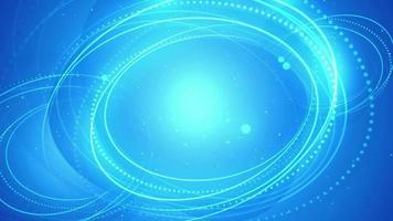fundo de raios de círculo azul abstrato video