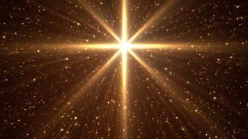 gloeiende gouden sterlus