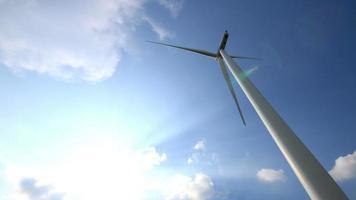 uma turbina eólica funcionando