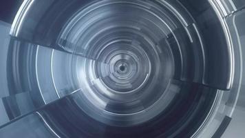 fond de tunnel de verre abstrait video