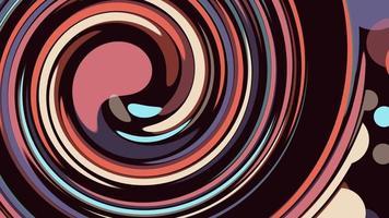 abstrakte Spiralform Vielfalt Farben nahtlose Schleife