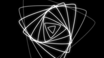 loop giratório de design abstrato video