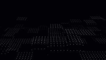 abstraktes 3D-Rendering von nahtlos geloopten Animationen