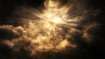 boucle de fond de lumières célestes