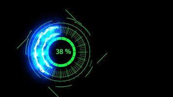 Energía de potencia del medidor digital azul oscuro
