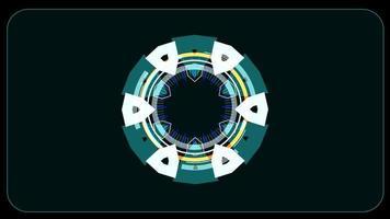 radar de energia de energia medidor digital laranja video