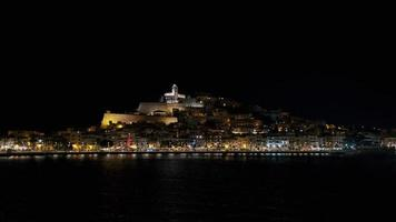 Ibiza Old Town Castle Dalt Vila at Night