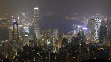 lo skyline della città di hong kong