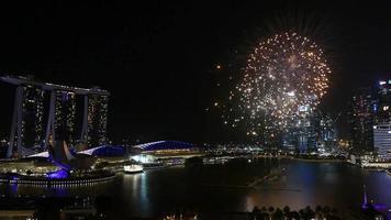 fogos de artifício em cingapura
