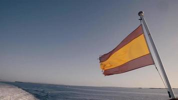 Flagge von Spanien weht im Wind video