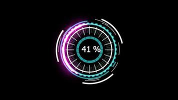 Potencia de análisis del medidor digital en blanco magenta